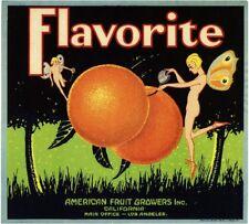 Los Angeles Flavorite Fairy Pixie Orange Citrus Fruit Crate Label Art Print