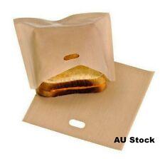 6-30 Pack Reusedable Toast Bag Toaster Bag Toasty Bread Toasty Pocket 17x19cm AU