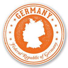 2 X Alemania Adhesivos De Vinilo De Laptop Auto Moto Viaje Equipaje Tag alemán Regalo # 6702