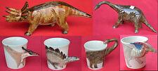 Keramikbecher Spartopf Spardose Dinosaurier als Henkel div Rassen, 10 cm handgef