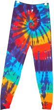 Adult TIE DYE Leggings Rainbow Spiral hippie long johns sm med lg xl 2x