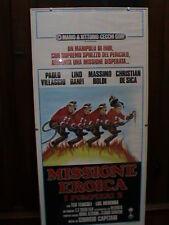 I Pompieri 2 Locandina Rara 1°ediz. 1987 Villaggio Banfi Boldi De Sica Teocoli