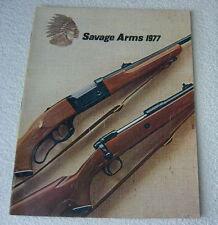 SAVAGE FIREARMS 1977 GUN CATALOG