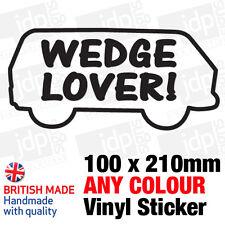 WEDGE LOVER WESTFALIA STICKER/DECAL (VW, CAMPER, POP TOP, T25, BAY, T2)