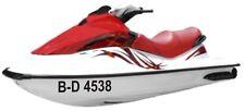 Jet Ski Kennzeichen Bootsnummer 2 Stück FZ2897