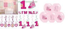 Girl's 1st Birthday Decorations Swirls Garland Lantern Banner 14'' Latex Balloon