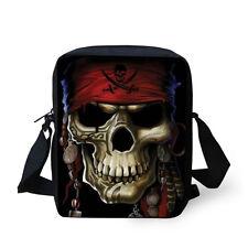 Cool Men Shoulder Bag Skull Casual Cross Body Bag Hobo Purse Satchel Sling Bag