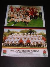 ENGLAND 2003 RUGBY WORLD CUP FINAL WINNERS JONNY WILKINSON MARTIN JOHNSON