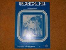 Jackie De Shannon sheet music Brighton Hill 1970 3 pages (M- shape)