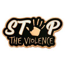 PinMart's Stop The Violence Awareness Enamel Lapel Pin