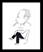 1928-rpt JASCHA HEIFETZ Violinist Lithuanian Cigarette Smoking Caricature MATTED