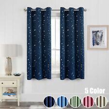 "Star Printed Room Darkening Blackout Short Curtain Ring Top Blind 39x47"" 1 Piece"