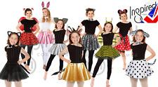 Kids ANIMAL COSTUME FANCY DRESS SKIRT Party Accessory Girls EARS BOW TAIL SET UK