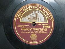 78 rpm ARTIE SHAW serenade to a savage / traffic jam
