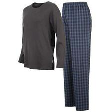 Stafford Homme sommeil Salon Pyjama Pantalon Classic Fit Noir Taille L-XL