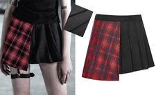 Mini jupe asymétrique plissé écossaise gothique lolita écolière Japon PunkRave
