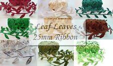 1 yard Leaf, Leaves Trimming Ribbon Many Colours
