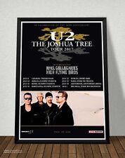 Poster U2 The Joshua Tree Tour 2017 Locandina Quadro su Tavola Mdf