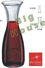 Bottiglia misura Bormioli caraffa ristorante pizzeria vino acqua LT 0,25-0,5-1