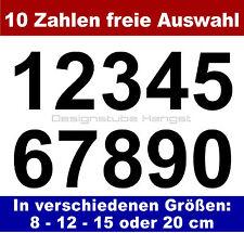10 Zahlen frei wählbar selbstklebend 3-20 cm Klebezahl  Aufkleber Hausnummer