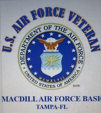 MACDILL AIR FORCE BASE*TAMPA-FL*U.S.AIR FORCE VET W/AIR FORCE EMBLEM*SHIRT