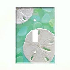 Sea Glass Sand Dollar Light Switch Plate Wall Cover Tropical Decor Ocean