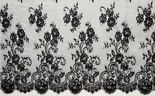 """Tela de encaje de Chantilly Boda Nupcial Tela de encaje 59"""" Pieza De Encaje Floral Tela 3 M/"""