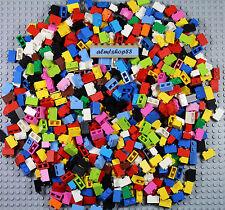 LEGO - 1x2 Basic Bricks - Assorted Classic & Less Common Colors Blocks Bulk Lot