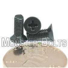 M3 x 8mm Phillips Flat Head Machine Screws, Steel w Black Ox Countersunk DIN 965