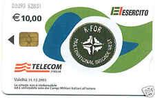 ESERCITO MISSIONE KFOR 2 SCHEDA TELEFONICA TELECOM CHIP