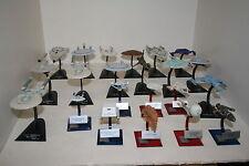 Star Trek Furuta F-Toys Ship collection Enterprise A,E Voyager Defiant DS9 NX-01