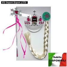 Frozen Fever Vestiti Carnevale Elsa Set Accessori Dress up Elsa Costumes ACES001