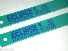"2 NOS Eclipse UK HSS Steel 6TPI  17"" x 1-1/4"" x .062"" POWER HACKSAW BLADE AE362A"