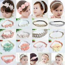 Baby Kid Girls Flower Hairband Soft Elastic Headband Hair Accessories Band UK