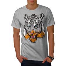 Cabeza De Tigre wellcoda Ojo Animal Hombre Camiseta, 0 Camiseta Impresa Diseño Gráfico