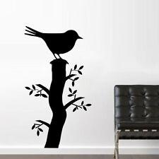Sticker Décor Nature Oiseau sur son Tronc ( arbre), 20x11 cm à 50x28 cm (OIS013)