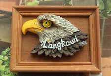 Malaysia Langkawi Eagle 3D Resin Wooden Tourist Souvenir Fridge Magnet Craft