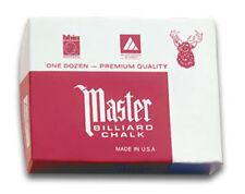 Master Kreide 12 Stk. Billardkreide div. Farben schwarz, grau, gold, rot...