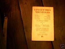 Revue Les Lettres Nouvelles N°1, mars 1953