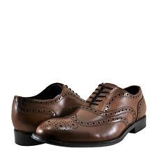 Mens Shoes Kenneth Cole Design 10521 Leather Oxford KMF7LE032901 Cognac *New*