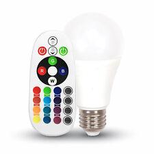 LÁMPARA BOMBILLA LED RGB + LUZ CÁLIDA - FRÍA - NATURAL V-TAC VTAC 6W = 40W
