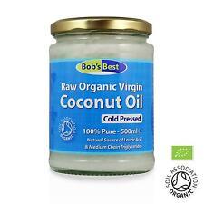 Organic Coconut Oil Raw Extra Virgin & Cold Pressed - 500ml, 1L or 2L Glass Jar