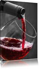 köstlicher Rotwein schwarz/weiß Leinwandbild Wanddeko Kunstdruck