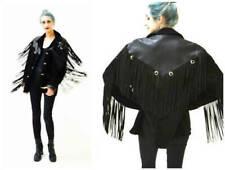 Women Western Jacket Fringes Ladies Suede Leather Jacket Native American