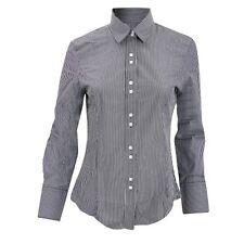 Brook Taverner Campana L/Sleeve Formal Business Stripe Blouse BNWT Black White