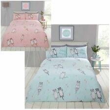 Cute Cuddly Otter Animal Print Duvet Quilt Cover Bedding Set + Pillowcases
