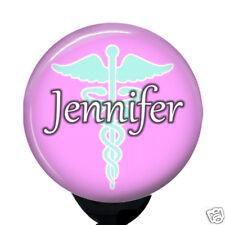 Personalized Caduceus Badge Reel Retractable Custom Nurse ID Card Holder