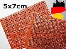 2, 5 unidades DIY PCB-Prototype agujero rejilla-placa de circuitos impresos-placa 5x7cm fr-4 50x70mm