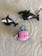 WHALE JIBBITZ KILLER WHALE SHOE CHARMS ORCA JIBBITZ WHALE W/ GEMS JIBBITZ