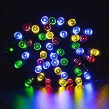 Multi Coloured Solar LED String Light Sun Powered Lights Garden Party Outdoor